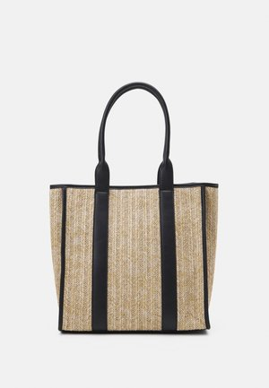 Shopping bag - beige/black