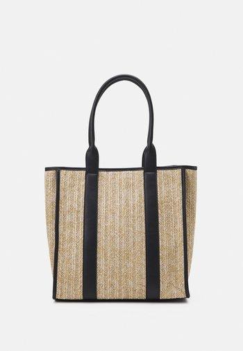 Tote bag - beige/black