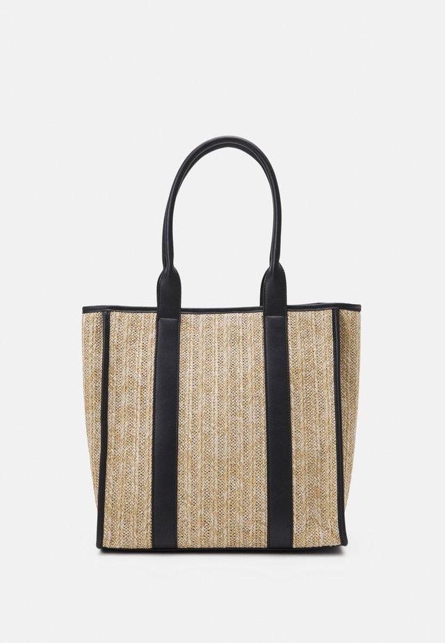 Bolso shopping - beige/black
