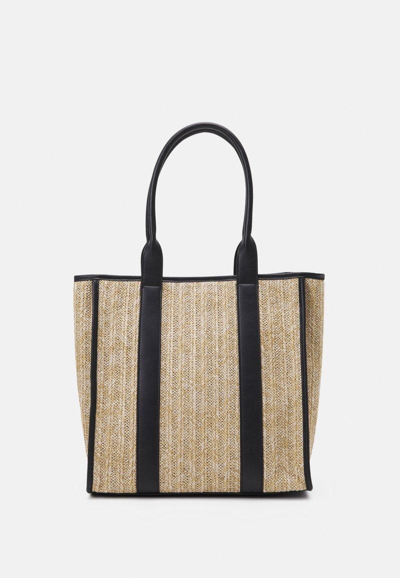 Even&Odd - Tote bag - beige/black