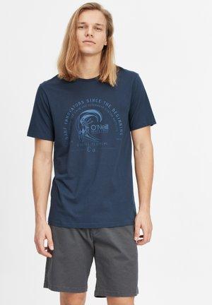 T-shirt med print - ink blue