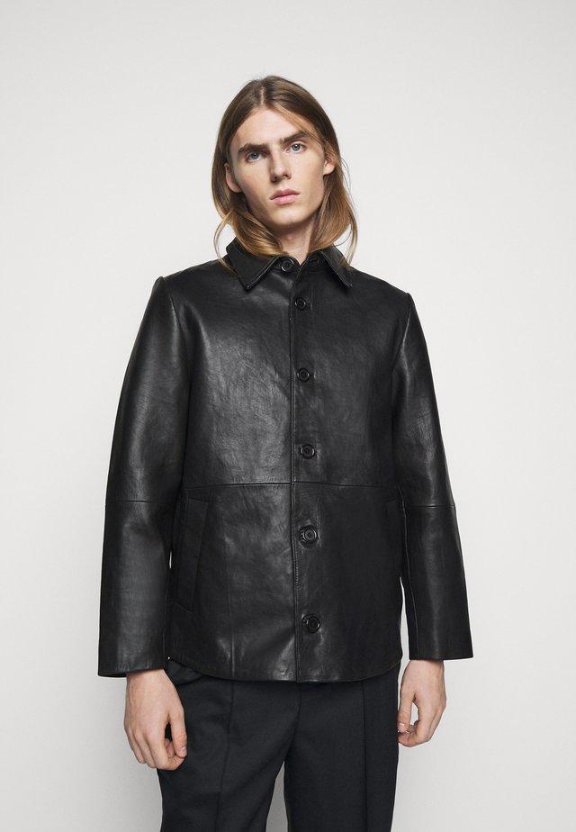 QUINOA JACKET - Leren jas - black