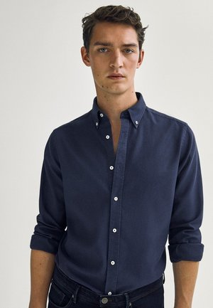 Shirt - blue-black denim