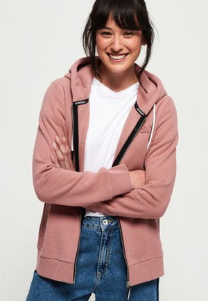 ELITE ZIPHOOD - veste en sweat zippée - smoke rose