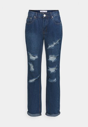 LADIES - Džíny Relaxed Fit - dark blue wash