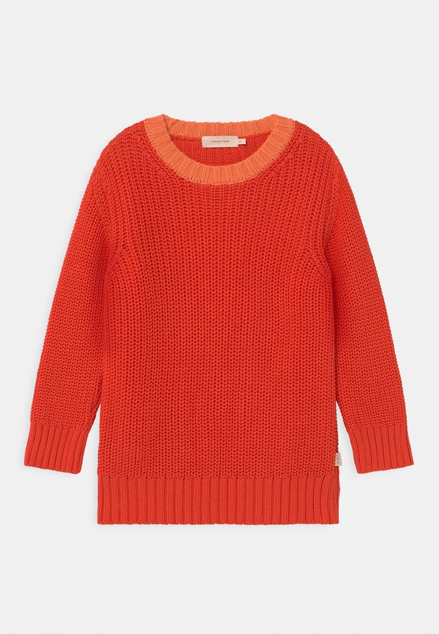 COLOURBLOCK UNISEX - Jumper - coral