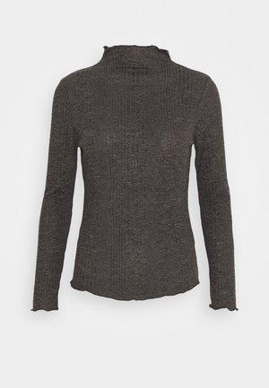 SLFLINNA  - Top sdlouhým rukávem - dark grey melange