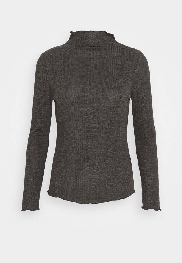 SLFLINNA  - Long sleeved top - dark grey melange