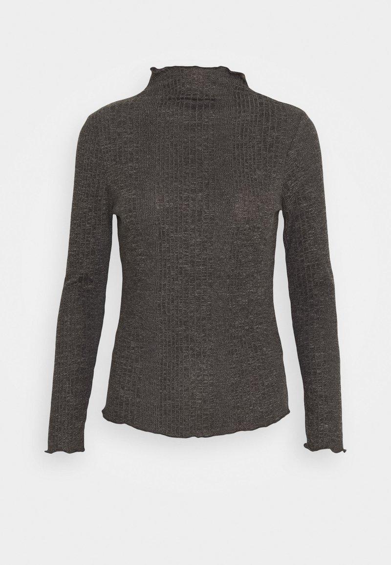 Selected Femme Petite - SLFLINNA  - Maglietta a manica lunga - dark grey melange
