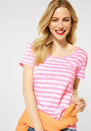 IM STREIFEN - Print T-shirt - rosa