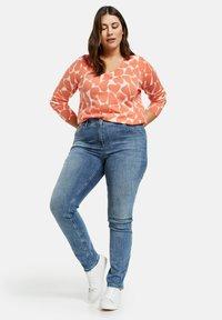 Samoon - Slim fit jeans - blue denim - 0