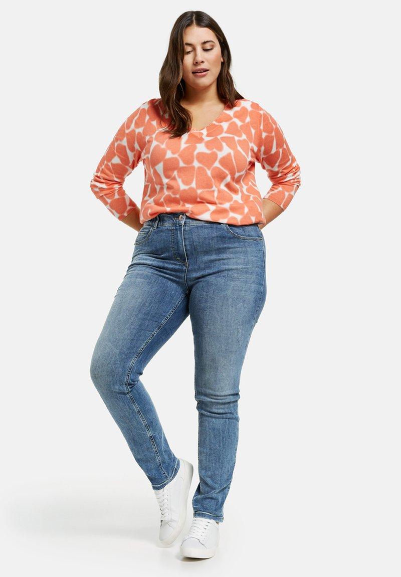 Samoon - Slim fit jeans - blue denim