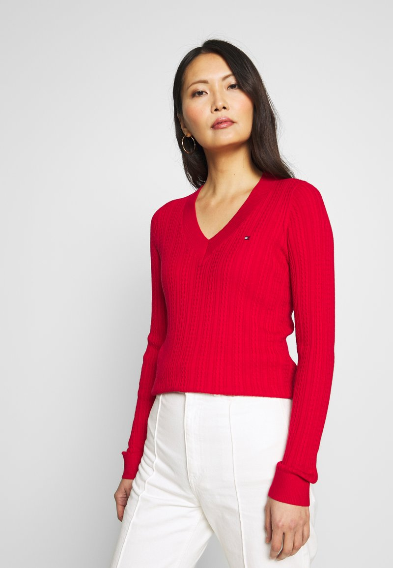 Tommy Hilfiger - INJ MINI CABLE  - Sweter - red