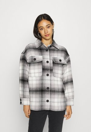 JDYTOBY CHECK JACKET - Lett jakke - black/cloud dancer