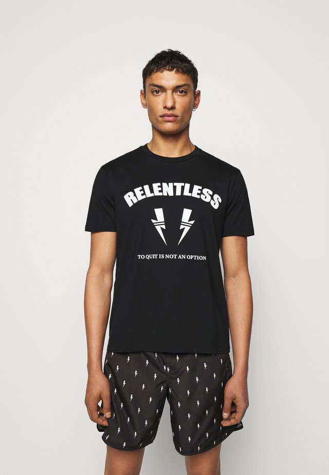 RELENTLESS SPORT BOLTS - T-shirt imprimé - black/off white