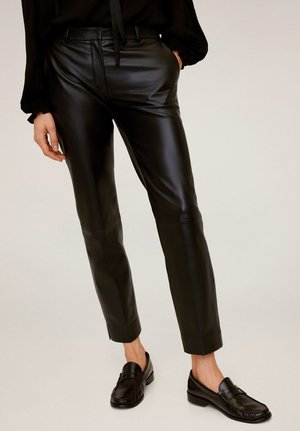 COLA - Leather trousers - black