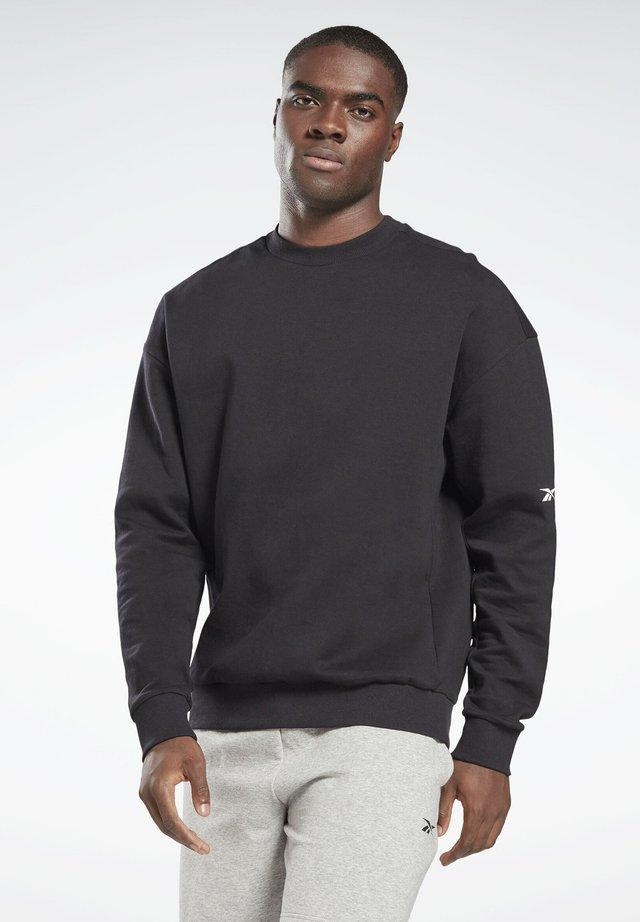 DREAMBLEND COTTON CREWNECK SWEATSHIRT - Collegepaita - black