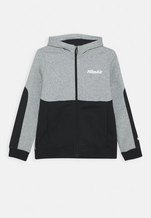 AIR HOODIE - Hoodie met rits - grey heather/black