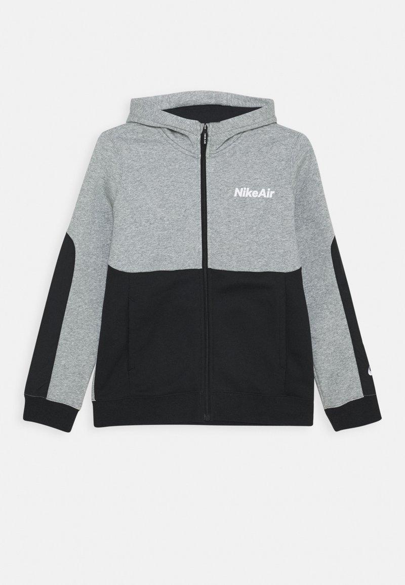 Nike Sportswear - AIR HOODIE - Zip-up hoodie - grey heather/black