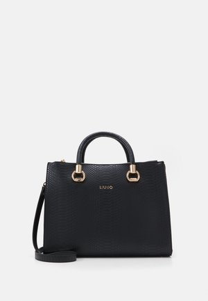 SATCHEL DOUBLE ZIP - Bolso de mano - nero