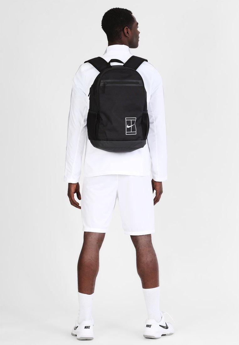 Nike Performance - COURT BACKPACK - Reppu - black/white