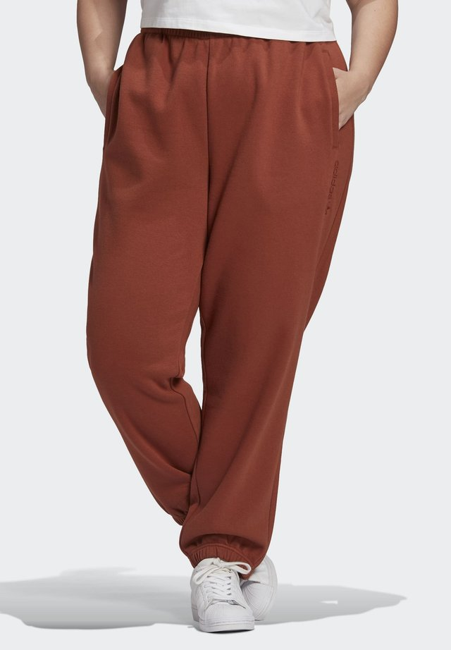 CUFFED JOGGERS - Tracksuit bottoms - brown