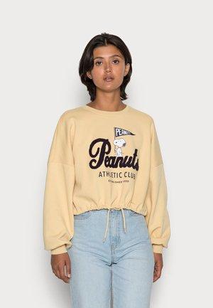 ONLPEANUTS LIFE TERRY BOX - Sweatshirt - straw/club