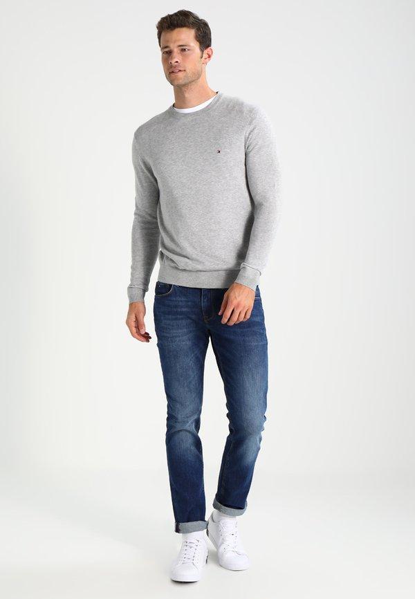 Tommy Hilfiger C-NECK - Sweter - cloud heather/szary Odzież Męska ASPX