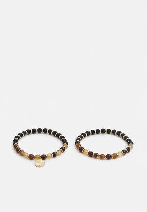BEADED BRACELETS 2 PACK - Bracelet - brown