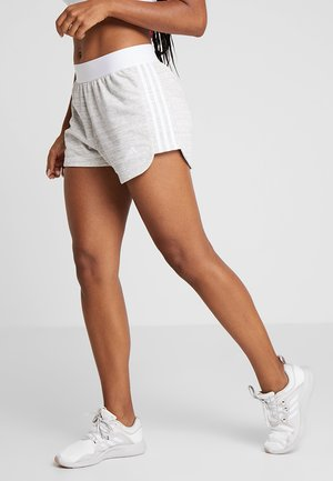 SHORT - Sports shorts - grey/white