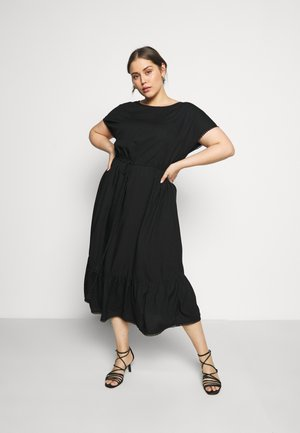 DOBBY DRESS - Day dress - deep black