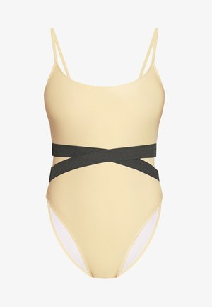 DOUBLE WAIST STRAP DETAIL SWIMSUIT - Swimsuit - nude