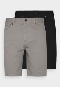 2 PACK - Shorts - black/mid grey