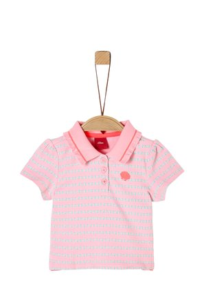 Polo shirt - light pink aop