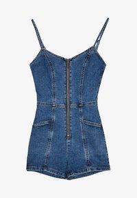 Bershka - Overall / Jumpsuit /Buksedragter - blue denim - 4