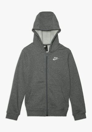 HOODIE CLUB - Zip-up hoodie - carbon heather/smoke grey/white
