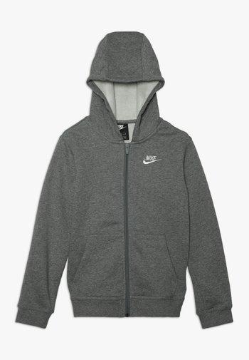 HOODIE CLUB  - Zip-up sweatshirt - carbon heather/smoke grey/white