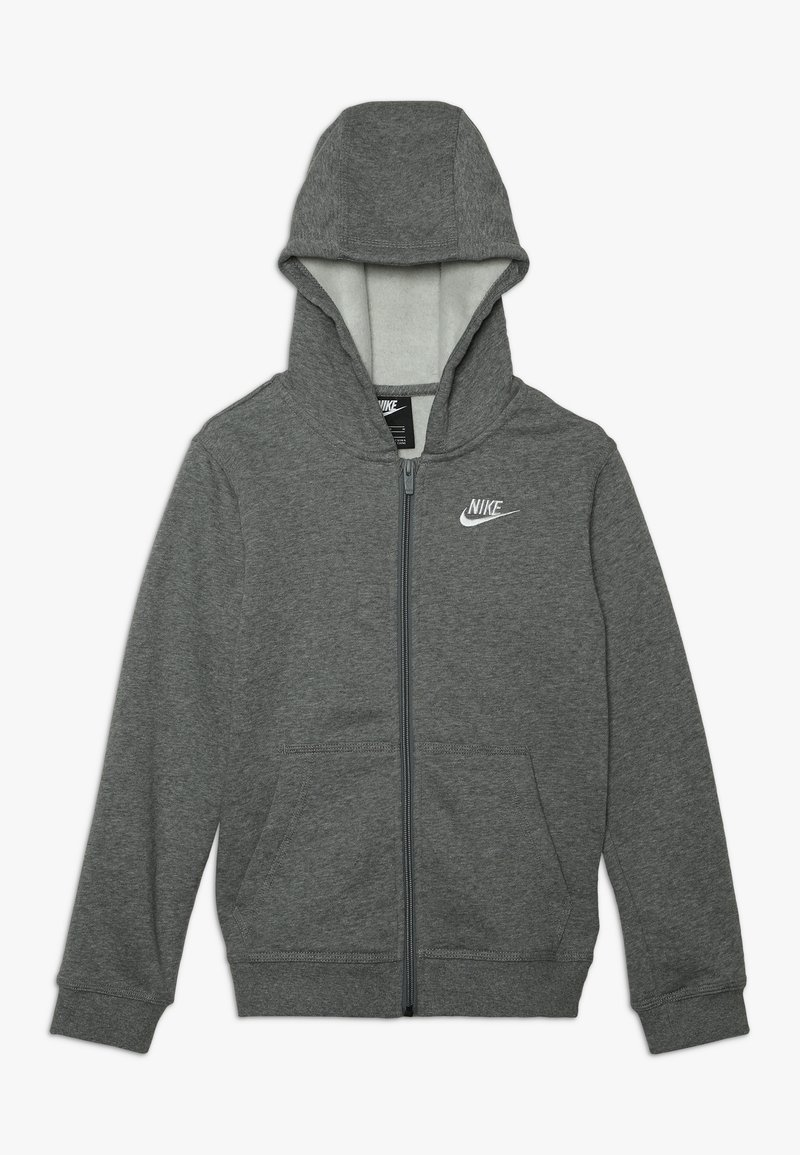 Nike Sportswear - HOODIE CLUB - Bluza rozpinana - carbon heather/smoke grey/white