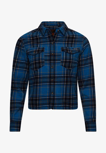 HERITAGE CHECK CROPPED - Button-down blouse - kilburn check blue