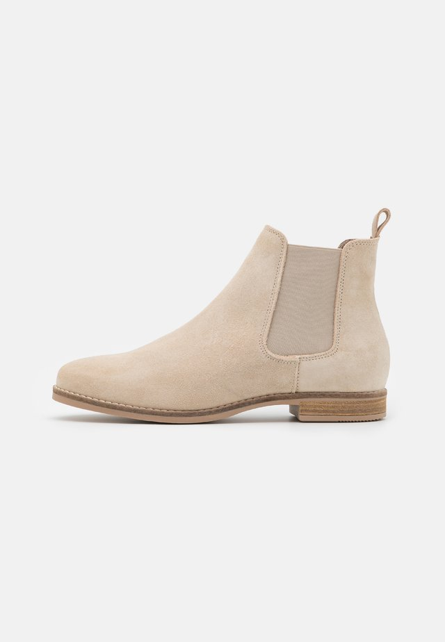 LEATHER - Ankle Boot - beige