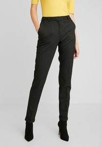 Selected Femme Tall - SLFLUNA ANKLE PANT - Trousers - dark grey melange - 0