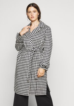 VMARIA LONG JACKET CURVE - Classic coat - black / white