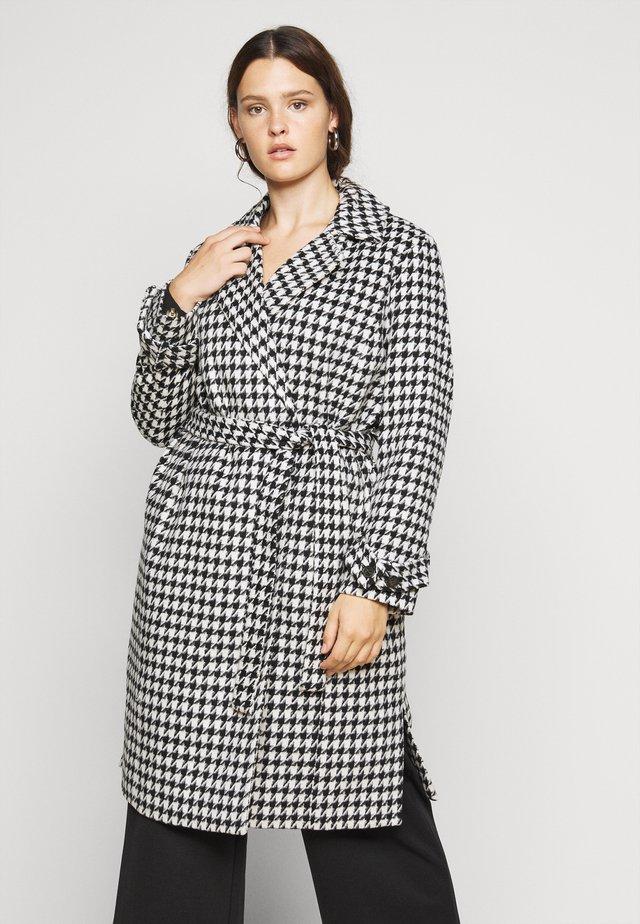 VMARIA LONG JACKET CURVE - Płaszcz wełniany /Płaszcz klasyczny - black / white