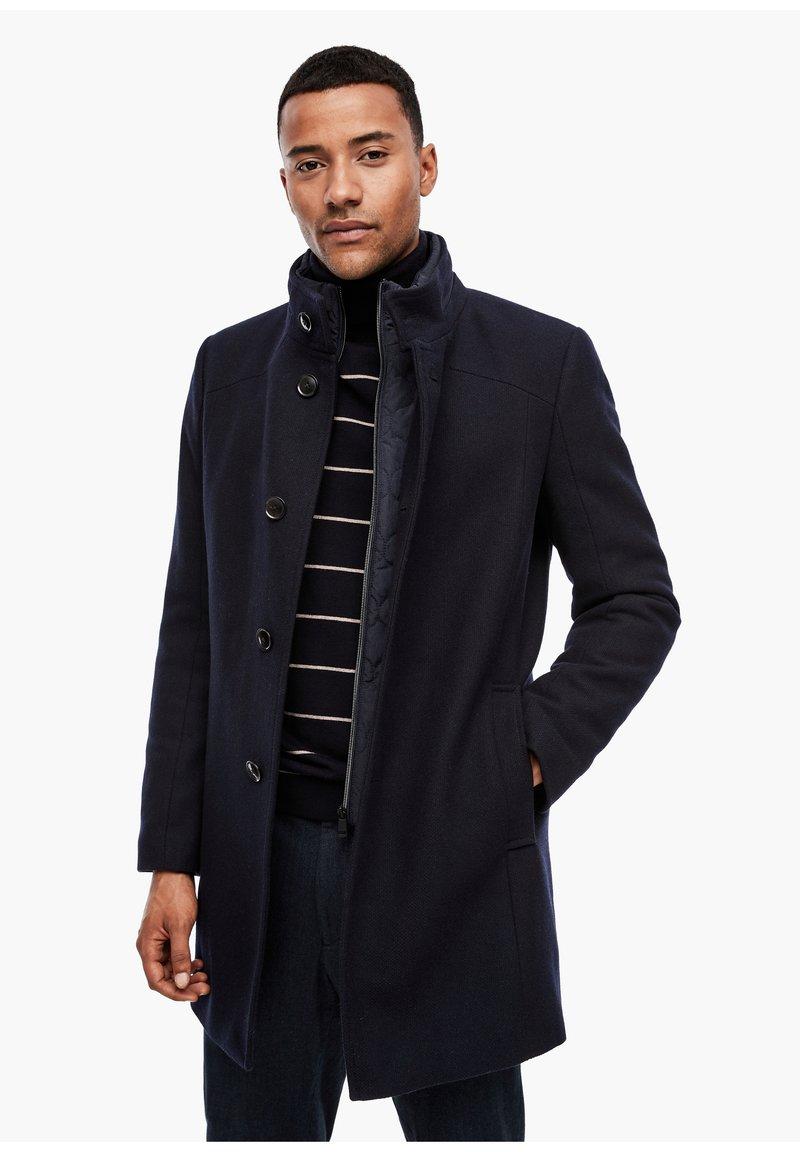 s.Oliver BLACK LABEL - STEHKRAGEN - Halflange jas - dark blue