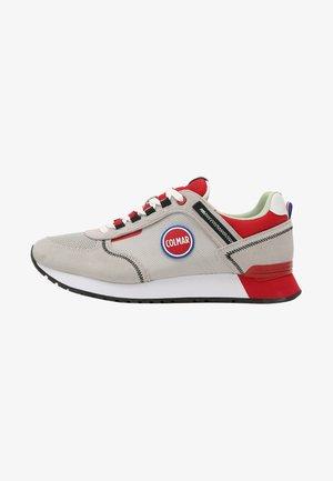 Sneakers laag - lt grey  red