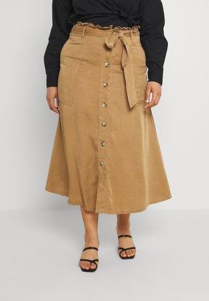 PAPERBAG MIDI SKIRT - A-line skirt - camel