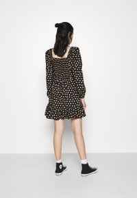 Miss Selfridge - DITSY POPLIN SQUARE NECK DRESS - Day dress - black - 2