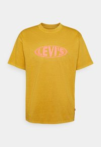 VINTAGE FIT GRAPHIC TEE - Print T-shirt - cool yellow
