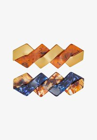 ONLY - ONLBABARA 2 PACK HAIR CLIP - Hair Styling Accessory - cognac/blue - 3