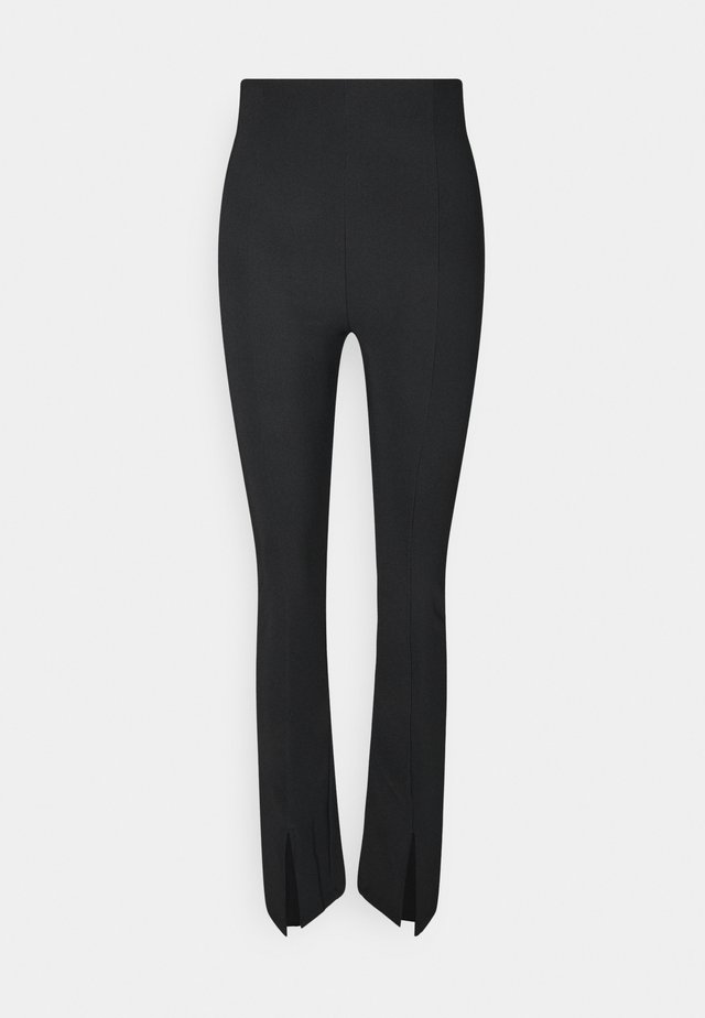 MY FRONT SLIT TROUSERS - Trousers - black